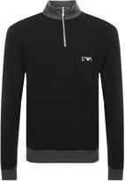 Giorgio Armani Emporio Half Zip Sweatshirt Black