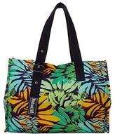 Vilebrequin Jungle Canvas Tote Bag (Night Blue) Tote Handbags