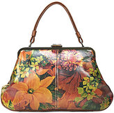 Patricia Nash Heritage Print Collection Macerata Floral Frame Satchel