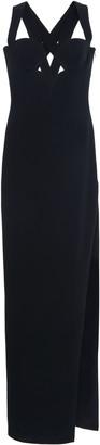 Versace Cutout Crepe Maxi Dress