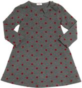 Il Gufo Polka Dot Flocked Viscose Knit Dress