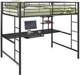 Asstd National Brand Pearson Full Loft Bed Over Workstation