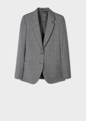 Paul Smith Women's Grey Glen Check Wool Blazer