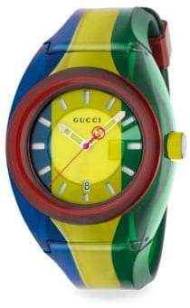 Gucci Sync 46mm Rubber Strap Watch