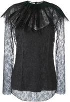 Nina Ricci removable collar lace blouse