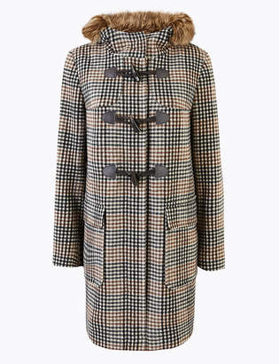 Marks and Spencer Checked Duffle Coat