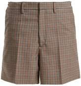 Maison Margiela Wide-leg checked wool-blend shorts