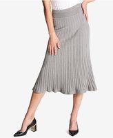 DKNY Ribbed Midi Skirt