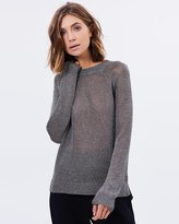 Arcadia Metallic Knit Crew Jumper