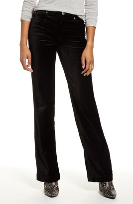 7 For All Mankind Alexa High Waist Velvet Trouser Pants