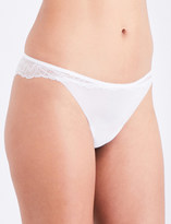 Wolford Stretch Lace floral-lace and mesh thong