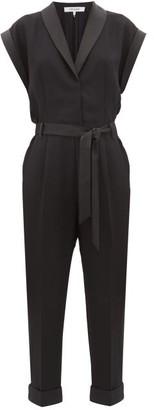 Frame Tailored Crepe Tuxedo Jumpsuit - Womens - Black