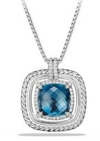 David Yurman Chatelaine Pave Bezel Enhancer with Hampton Blue Topaz and Diamonds