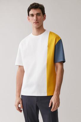 Cos Cotton Panelled T-Shirt