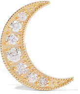 Andrea Fohrman Mini Crescent 18-karat Gold Diamond Earring - one size