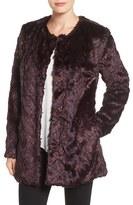 Sam Edelman Women's Tiered Faux Fur Topper