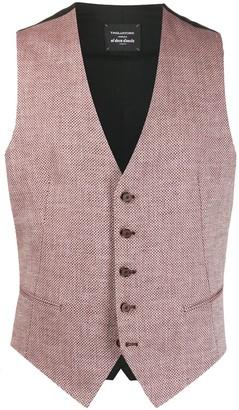 Tagliatore Brian dotted pattern waistcoat jacket
