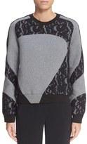 Carven Women's Lace Applique Sweatshirt