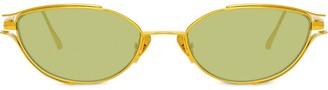Linda Farrow Cat Eye Frame Tinted Sunglasses