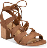 Call it SPRING Ereissa Block-Heel Lace-Up Sandals