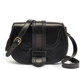 Penelope Chilvers Mandolin Black Leather Saddle Bag