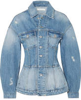Jonathan Simkhai Denim Peplum Jacket - Mid denim