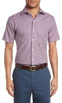 Peter Millar Men's Regular Fit Short Sleeve Crisp Pane Sport Shirt