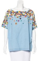 Suno Embellished Short Sleeve Top