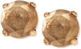 Lucky Brand Gold-Tone Bronze Crystal Stud Earrings