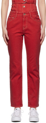 Sjyp Red Straight Jeans