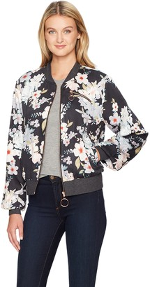 Somedays Lovin Women's Mystic Nights Floral Print Bomber Jacket