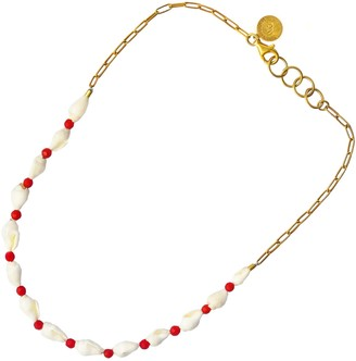 Softdream By Lauragalasso Shell & Coral Necklace