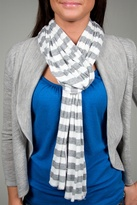 Heather Stripe Scarf in White