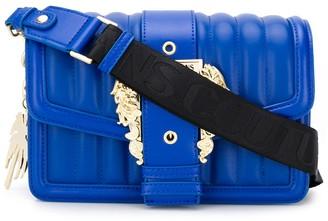 Versace central buckle logo strap shoulder bag