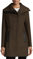 Soia & Kyo Asymmetrical Wool Blend Coat