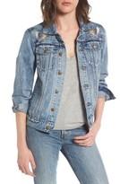 Pam & Gela Women's Patch Denim Jacket