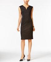 ECI Cap-Sleeve Sheath Dress