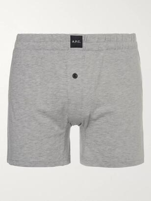 A.P.C. Cotton-Jersey Boxer Shorts - Men - Gray