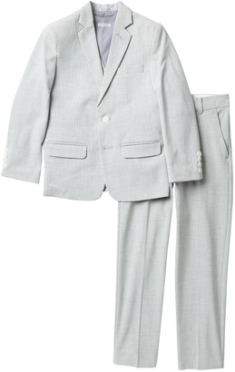 Calvin Klein Stretch Sharkskin Suit - 3-Piece Set (Big Boys)
