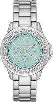 GENEVA Geneva Womens Mint Dial Silver-Tone Watch
