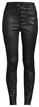 J Brand Women's Natasha High-Rise Skinny Leather Pants