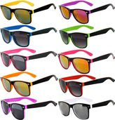 OWL New Stylish Retro Vintage Two -Tone Sunglasses Multicolor Mirror Lens (, Mirror
