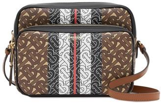 Burberry Medium Monogram Stripe E-canvas Camera Bag