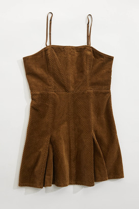 Urban Outfitters Kensie Corduroy Lace-Back Mini Dress