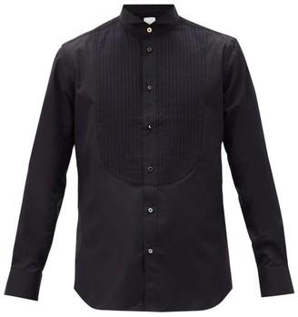 Paul Smith Knife-pleated Plastron Cotton-poplin Tuxedo Shirt - Black