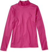 L.L. Bean Pima Cotton Tee, Long-Sleeve Stand-Up Neck