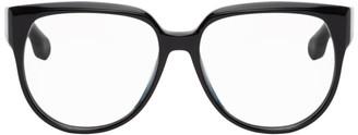 Victoria Beckham Black Sculptural Deep Frame Square Glasses