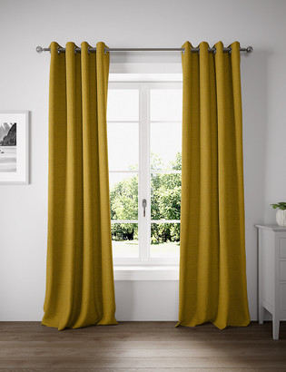 Marks and Spencer Geometric Eyelet Curtains