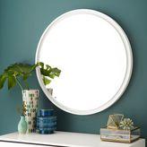 west elm Floating Round Wood Mirror - White