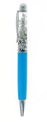 Beacon Craft Ballpoint Pen Floating Glitter - Light Blue